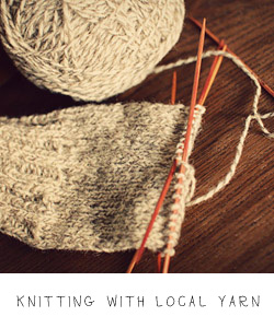 knitting with local yarn